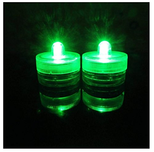 Livingly Light Home Decorations Led Tea Candles Bulb Battery Operated Flameless For Seasonal   Festival Celebration  Pack Of 12  Electric Fake Candle In Green And Wave Open