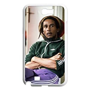 C-EUR Diy Phone Case Bob Marley Pattern Hard Case For Samsung Galaxy Note 2 N7100