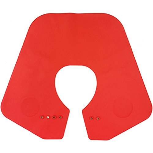- ZZ Lighting Silicone Cutting Collar Neck Shield Magnetic Waterproof Coloring Cape Professional Barber Hair Shawl(Red)