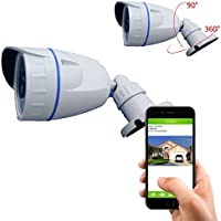 Coolcam HD 720P Outdoor IR Bullet WiFi Security Camera Night Vision Wireless, Video Monitoring, Surveillance 8GB Built-in Memory Card (Record up to 30 days)