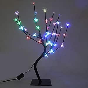 Arvore Pisca Pisca 36 Leds Cerejeira 54 cm Abajur Decoracao Luminaria Natal (89227/Colorido)