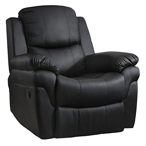 Laura James Bonded Leather Recliner Armchair | Home Lounge Reclining Chair...