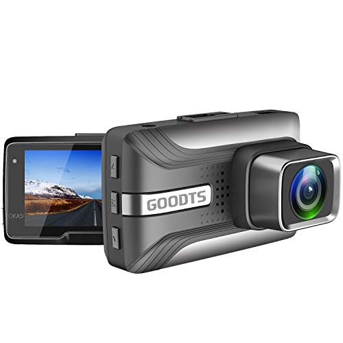 GOODTS Dash Cam 1080P FHD Car Camera Recorder 2.45 Inch LCD Screen 170 Wide Angle, Dash Camera for Cars with G-Sensor Loop Recording WDR Motion Detection Night Vision.