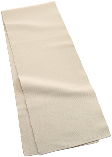 Mahogany Solid-Color 100-Percent Cotton Ribbed Table Runner, 13-Inch by 72-Inch, (Solid Mahogany Desk)