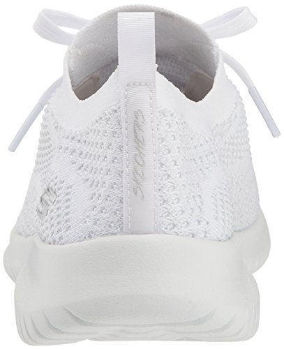 on Sneaker Flex Damen Skechers Slip Bianco Ultra Salutations Weiß qXxHY4