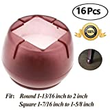 Chair Leg caps Wood Floor Protectors with Felt Furniture Pads, Chair Feet Glides Furniture Carpet Saver, Silicone/Rubber Caps Tips,Fit Round 1-13/16 inch to 2 inch and Square 1-7/16 inch to 1-5/8 inch