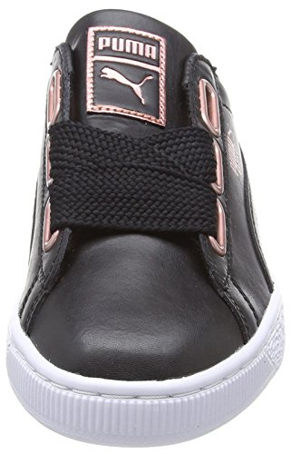 Wn's Puma Basket Femme rose Sneakers Leather Heart Black 02 puma Gold Basses Noir qqgZ4S