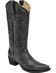 Circle G Womens Filigree Cowgirl Boot Snip Toe - L5142