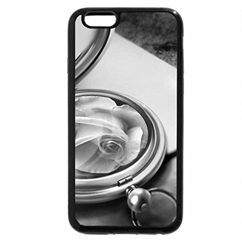 iPhone 6S Plus Case, iPhone 6 Plus Case (Black & White) - Medallion with a Rose