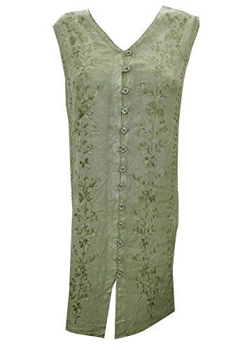 Mogul Interior - Vestido - trapecio - para mujer Verde 1