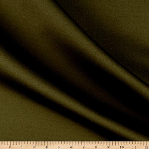 (Vogue Group 1.5mm Neoprene Scuba Fabric, Olive, Fabric By The Yard)