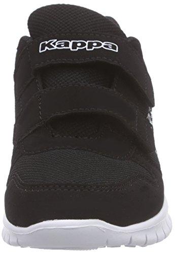 Kappa Unisex-Kinder Note Kids Low-Top Schwarz (1110 black/white)