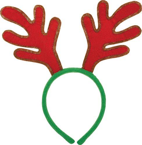 amscan Red Reindeer Antler Felt Headband | Christmas Accessory -