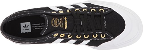 adidas Originals Herren Matchcourt Fashion Sneaker Core Black / Schuhe Weiß / Gold Metallic
