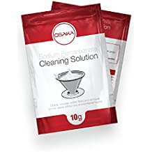 Osaka Sodium Percarbonate Cleaning Solution - Clean and Unclog Coffee Filters and Removes Kitchen Stains.
