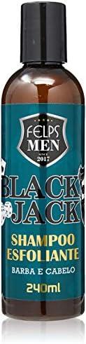 Men Black Jack Shampoo Esfoliante 240 ml, Felps, 240ml