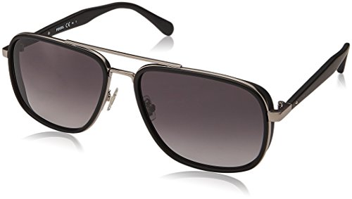 Fossil Men's Fos 2064/s Aviator Sunglasses, Matte Black, 58 mm