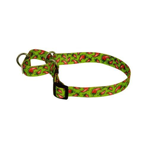Hot Peppers Martingale Control Dog Collar - Size Medium 20'' Long - Made In The USA by Yellow Dog Design (Image #1)