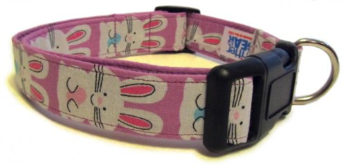 Adjustable Dog Collar in Easter Bunnies (Handmade in the U.S.A.), My Pet Supplies