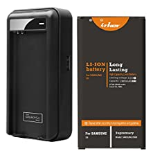 Samsung Galaxy S5 Battery: Lrker Samsung Galaxy S5 Battery Kit[1*Battery+1*Charger]1* 2800mAh Li-ion Extended Battery EB-BG900BBC with NFC Combo with Special Intelligent USB Travel Charger(1*B+1*C)