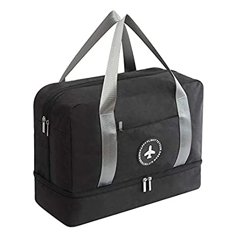 7e4c0280c AIJAKO Waterproof Gym Bag with Shoe Compartment, Travel Bag Weekender Dry  and Wet Separation Mesh