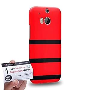 Case88 [HTC One M8] 3D impresa Carcasa/Funda dura para & Tarjeta de garantía - Art Design Red Bumblebee
