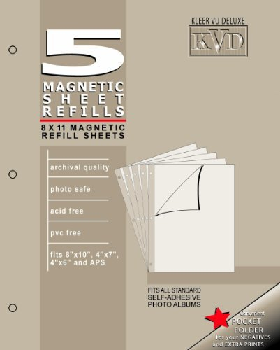 KVD Kleer-Vu Deluxe Albums Inc. N/A Collection, Magnetic refill pages Each pack contains 5 sheets, Mag. by KVD ()