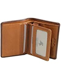 TR-33 Leather Bifold Card Case ID Wallet Holder of Veg Tan Leather
