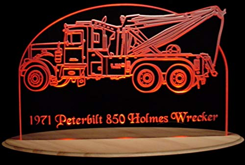 (ValleyDesignsND 1971 Wrecker Pblt Holmes Choose Your Text Acrylic Lighted 13