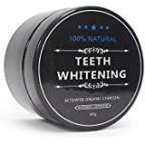 Charcoal Teeth Whitening Powder with Coconut Activated Charcoal - Organic Safe Effective Tooth Whitener Solution for Stronger Healthy Whiter Teeth with Ebook Instructions
