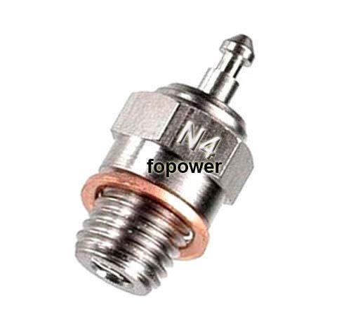 FidgetKute 70117 N4 Glow Plug #4 Spark Hot Nitro Engine Traxxas OS RC HSP 1:10th Car
