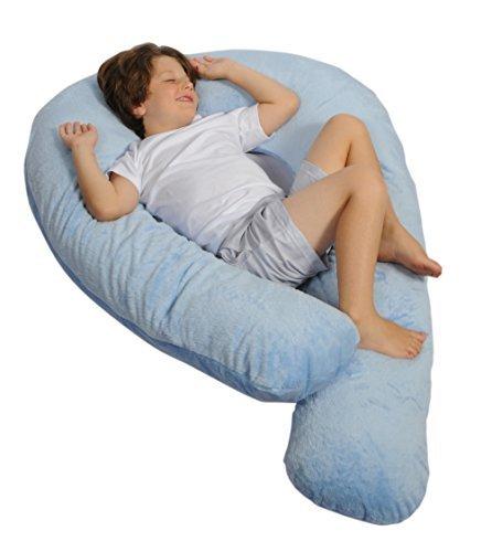 Moonlight Slumber Kids Comfort-U - Body Pillow for Kids + Light Blue Plush Pillow Cover by Moonlight Slumber
