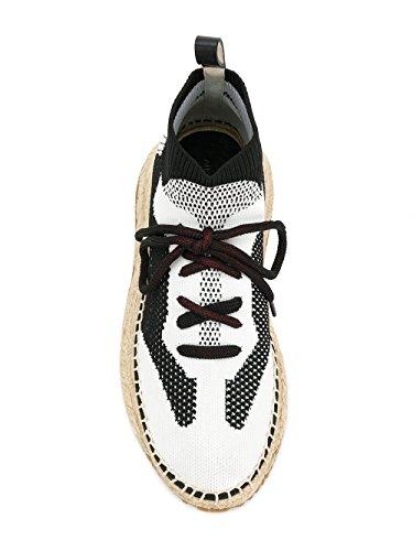 Alexander Wang Vrouwen 3018e0100t964 Wit / Zwart Polyester Hi Top Sneakers