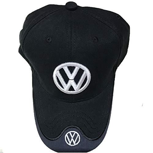 Racing Volkswagen - Ldntly Baseball Cap Adjustable Men Women Car Logo Black Baseball Cap Adjustable Hat (for Volkswagen)