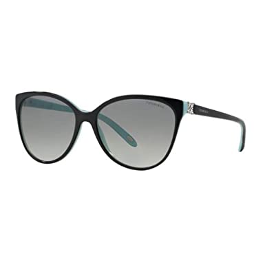 20e3a88a4f1 Amazon.com  Tiffany TF4089B 8055-3C Black TF4089B Cats Eyes Sunglasses Lens  Category 2 Size  Tiffany  Clothing