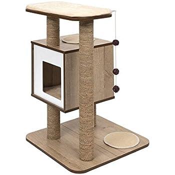 Amazon Com Vesper Cat Tree Scratching Post With Condo