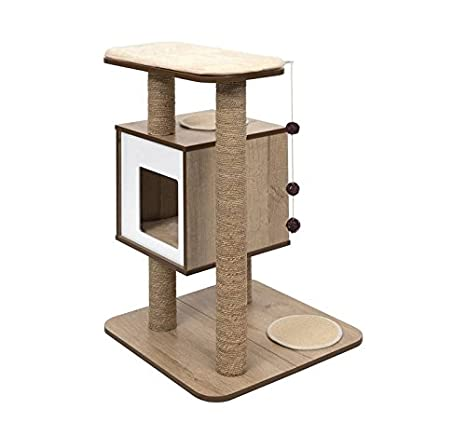 Vesper Mueble Rascador para Gatos, V-Base: Amazon.es: Productos para mascotas