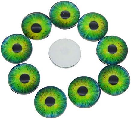 Verre 10 mm Julie Wang Cabochons ronds en verre vendus en vrac et assortis pour la confection de poup/ée et de bijoux