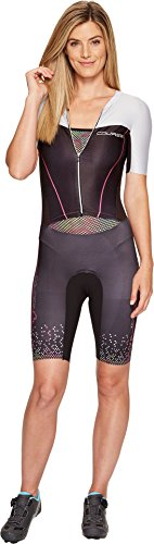 Louis Garneau Women's Tri Course LGneer Skinsuit Black/Multicolor (Black Skinsuit)