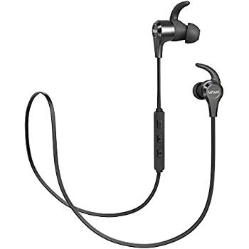 VAVA MOOV 25 Bluetooth Earphones, Magnetic Wireless Sports Earphones, aptX High Fidelity Stereo, IPX6 Splash Proof Earbuds for Workouts, 9 Hour Battery, cVc 6.0 Noise Cancelling Microphone