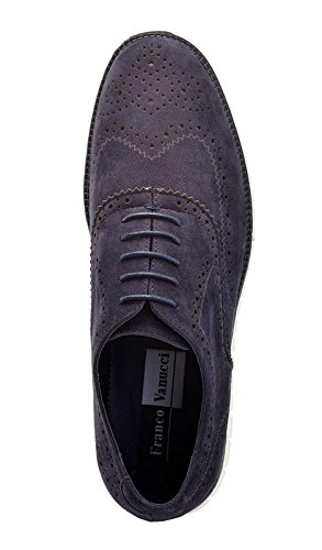 Lace Franco Walking Vanucci Fashion Design up Oxford Suede Mesh Men's Lightweight Oliver 4951 Flyknit Navy Running Sneakers 008rq