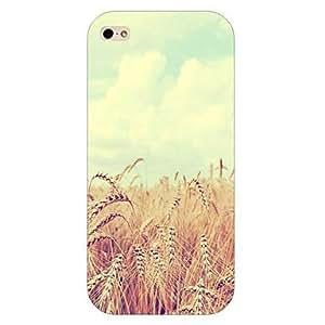 YULIN caso trasero duro del patrón de trigo para el iphone 5 / 5s