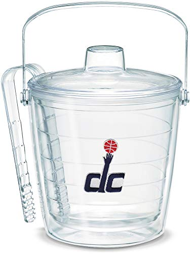Tervis 1067989 NBA Washington Wizards Secondary Logo Ice Bucket with Emblem and Clear Lid 87oz Ice Bucket, Clear