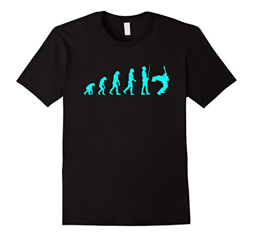 Mens Evolution of Guitar T-Shirt Funny Musician Evolving Shirt Medium Black