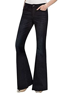 BCBGMaxazria Dark Blue Women's 26X34 Boot Cut Seamed Jeans $158