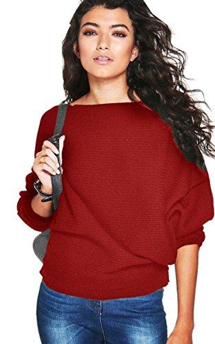 ECOWISH Shoulder Oversized Pullover Sweatshirt