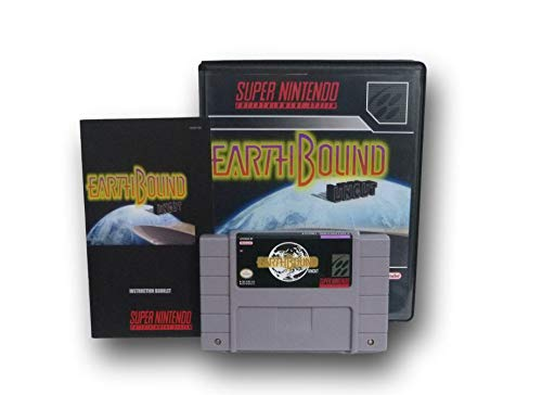 SNES Earthbound Uncut Video Game with Custom Box and Manual for the Super Nintendo - Super Nintendo Snes Manual