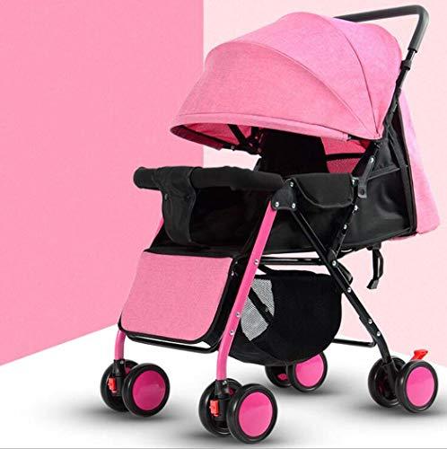 GJX Lightweight Stroller, Steel Can Sit Reclining Umbrella Baby Stroller, Light Portable Folding Children's Trolley (Color : A1)