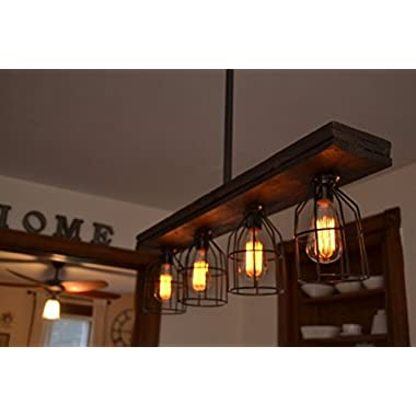 Triple Wood Light (W/Cages)