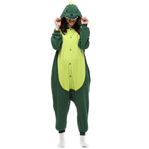 Unisex Adult Animal Pajamas Custome Cosplay for Halloween Christmas (X-Large, Green Dinosaur) ()
